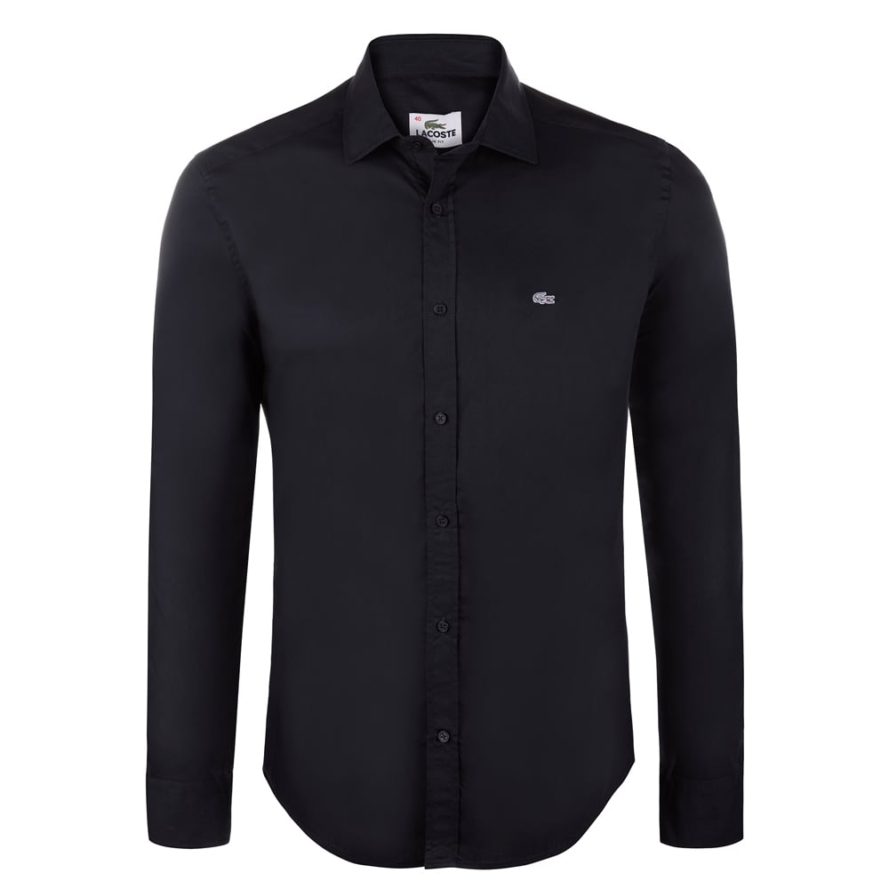 Lacoste Mens Shirts | The Shirt Store | Black Lacoste Shirt