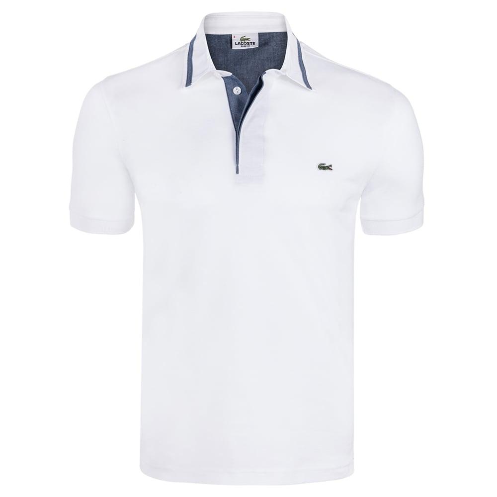 Lacoste White Mens Polo T-shirt