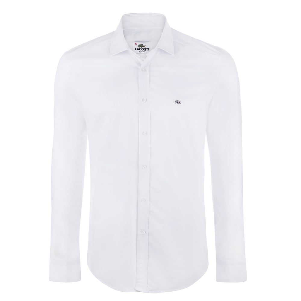 Lacoste mens shirts the shirt store white lacoste shirts for Mens formal white shirts