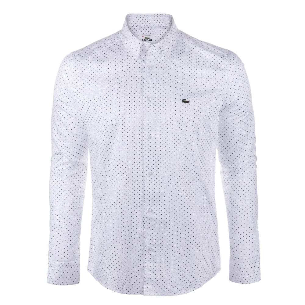 Lacoste mens shirts the shirt store for Mens formal white shirts