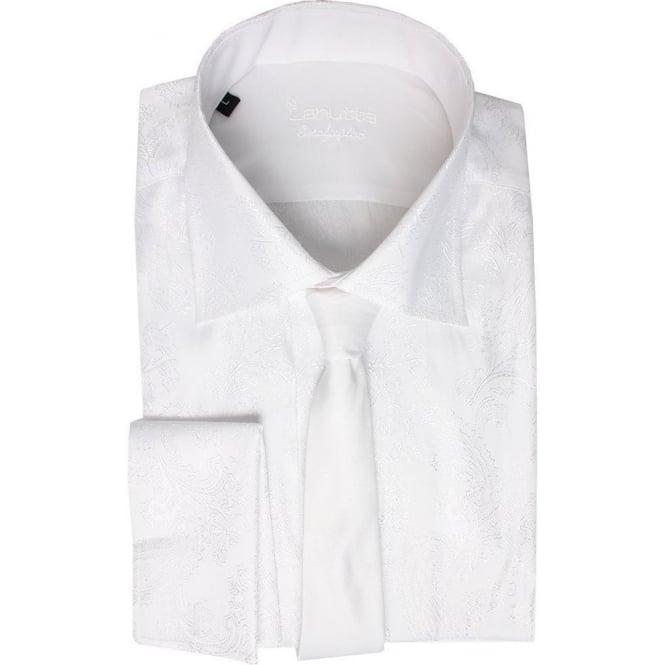 Mens White Shirt Double Cuff