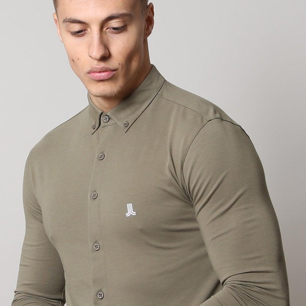 Life and Limb Indigo Long Sleeve Stretch Denim Mens Shirt