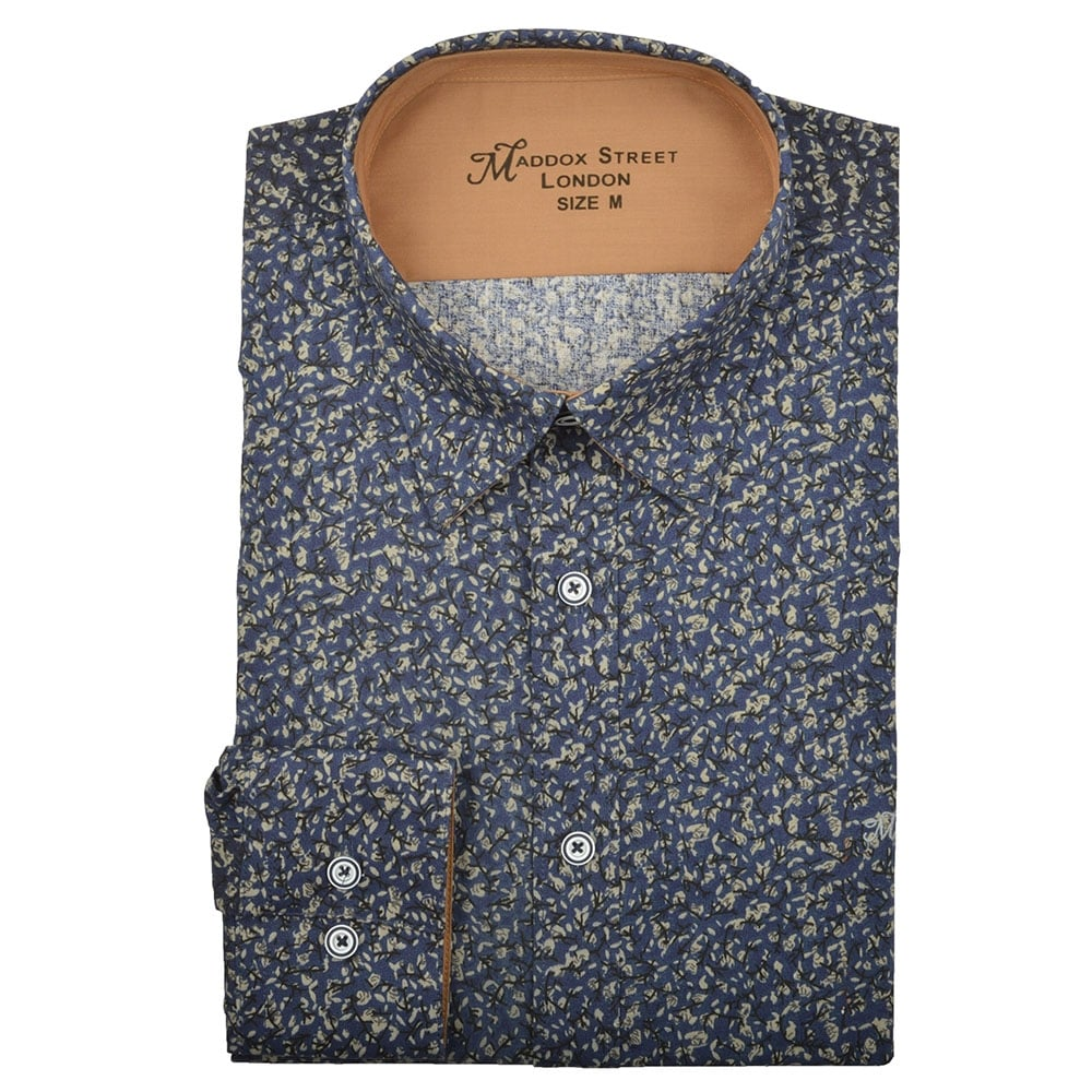 maddox street floral print mens shirt