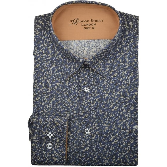 Maddox Street Chinchilla Floral Print Mens Shirt