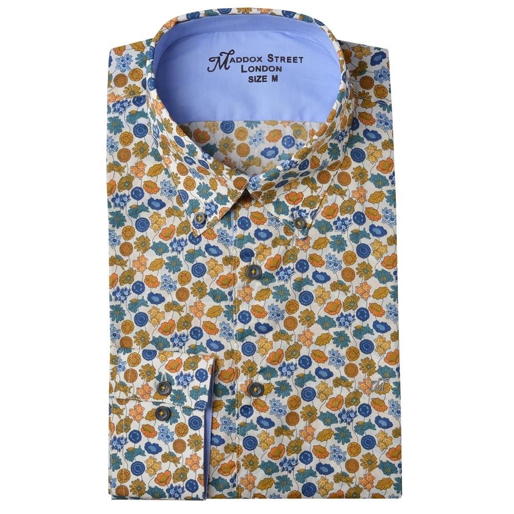 Maddox street london mens shirts m36mw05 the shirt store for Flower print mens shirt