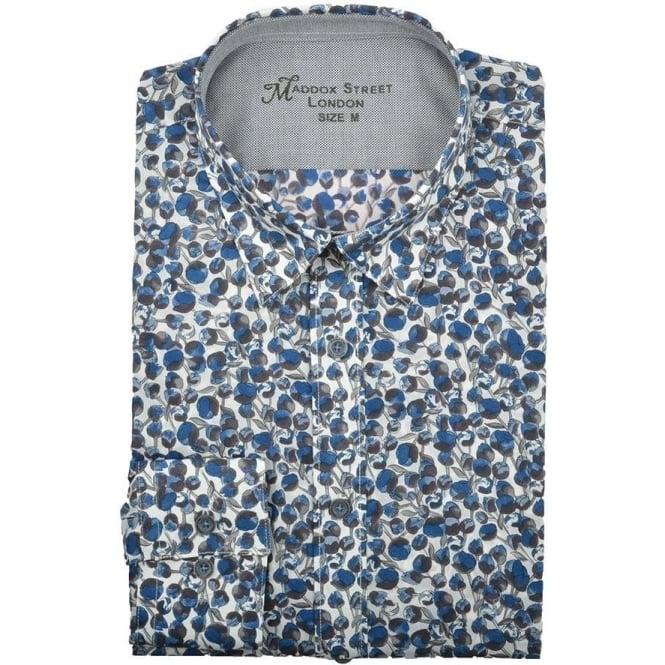 88fdda7dc25 Maddox Street Liberty Blue Orchard Print Mens Shirt