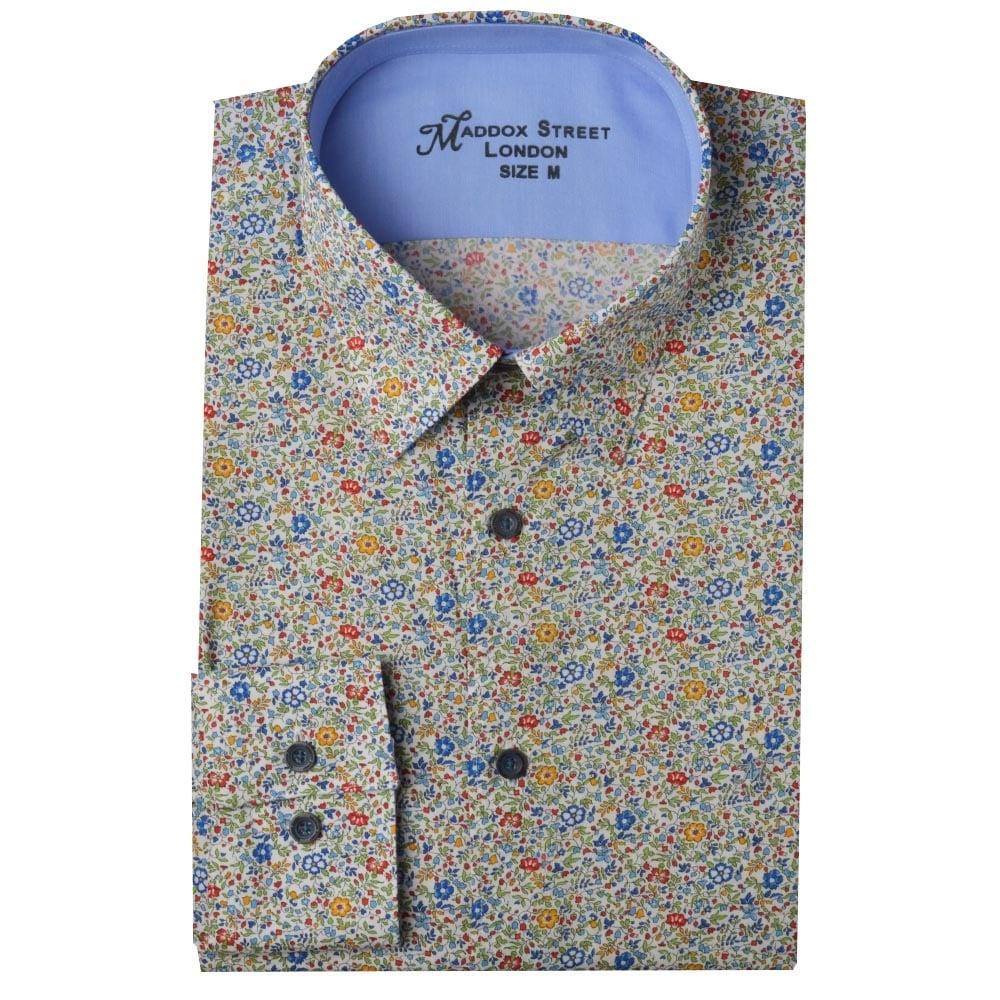 Maddox street liberty print shirts m36mw01 the shirt store for Flower print mens shirt