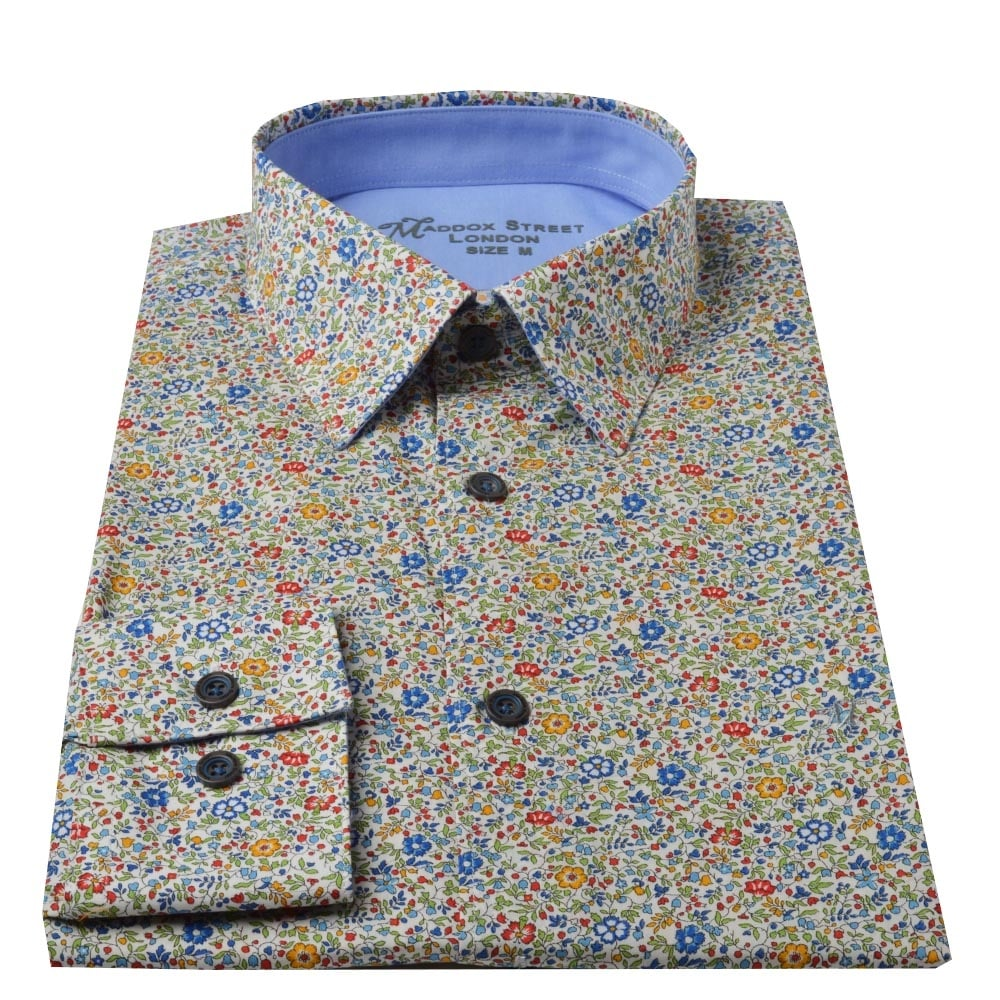 Men's Floral Shirts Ideal for men who like to stand out from the crowd, our floral shirts will add a touch of fun to your wardrobe with their bright, bold prints. Made from % cotton, our men's floral shirt collection includes subtle flower prints which are perfect for the office or smart casual occasions.