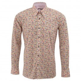 Liberty Print Leaf Design Mens Shirt