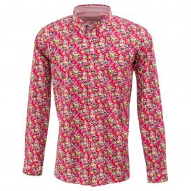 Rose Print Mens Shirt