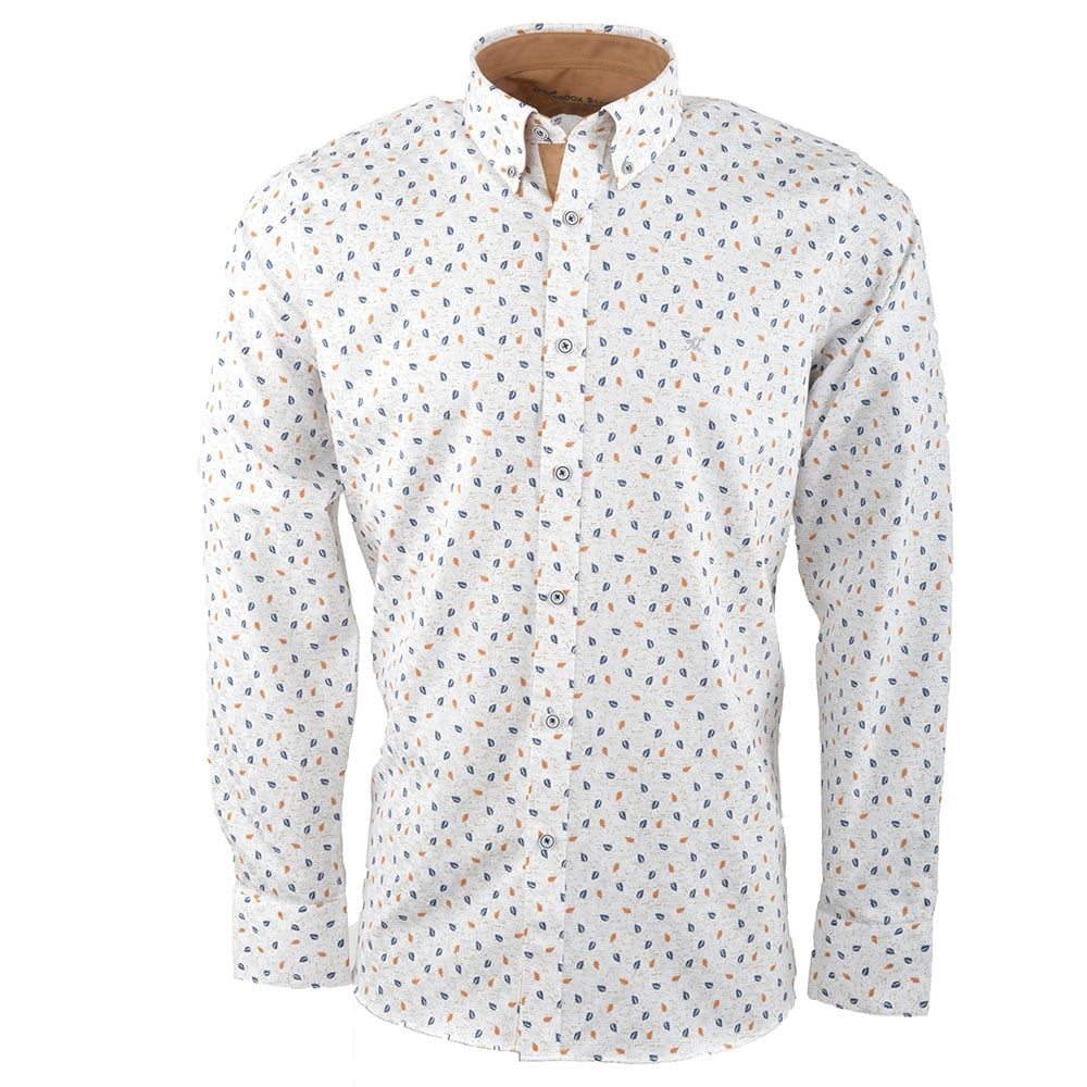 White Floral Print Mens Shirt | M37MW10W | The Shirt Store