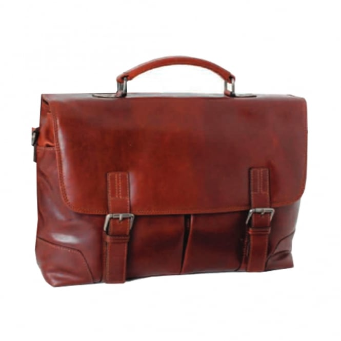 Ashwood Mens Elliot Leather Handcrafted Briefcase