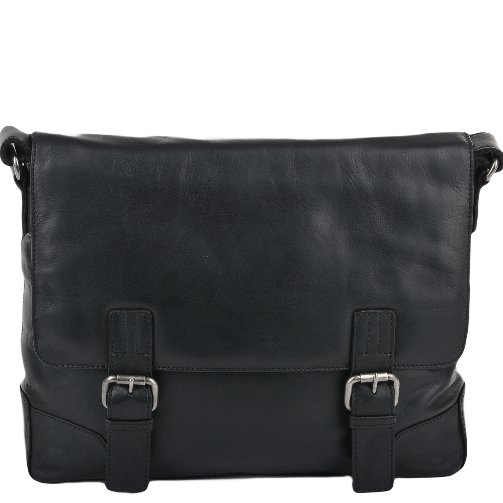 f211563282c2c Mens Ashwood Oscar Double Clasp Laptop satchel. Black · Tan