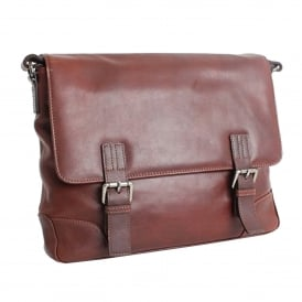Mens Ashwood Oscar Double Clasp Laptop satchel