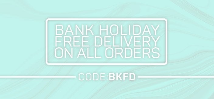 Bank Holiday Free Delivery on All orders