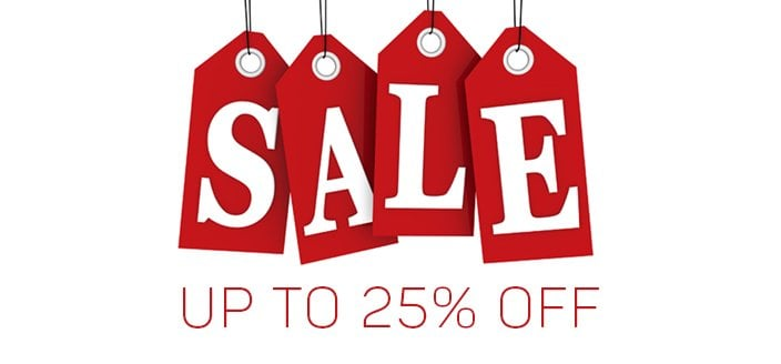 UP 25% off