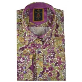 Autumn Floral Print Mens Shirt