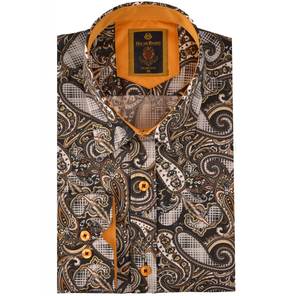 Oscar Banks Mens Designer Shirts Paisley Shirts The Shirt Store