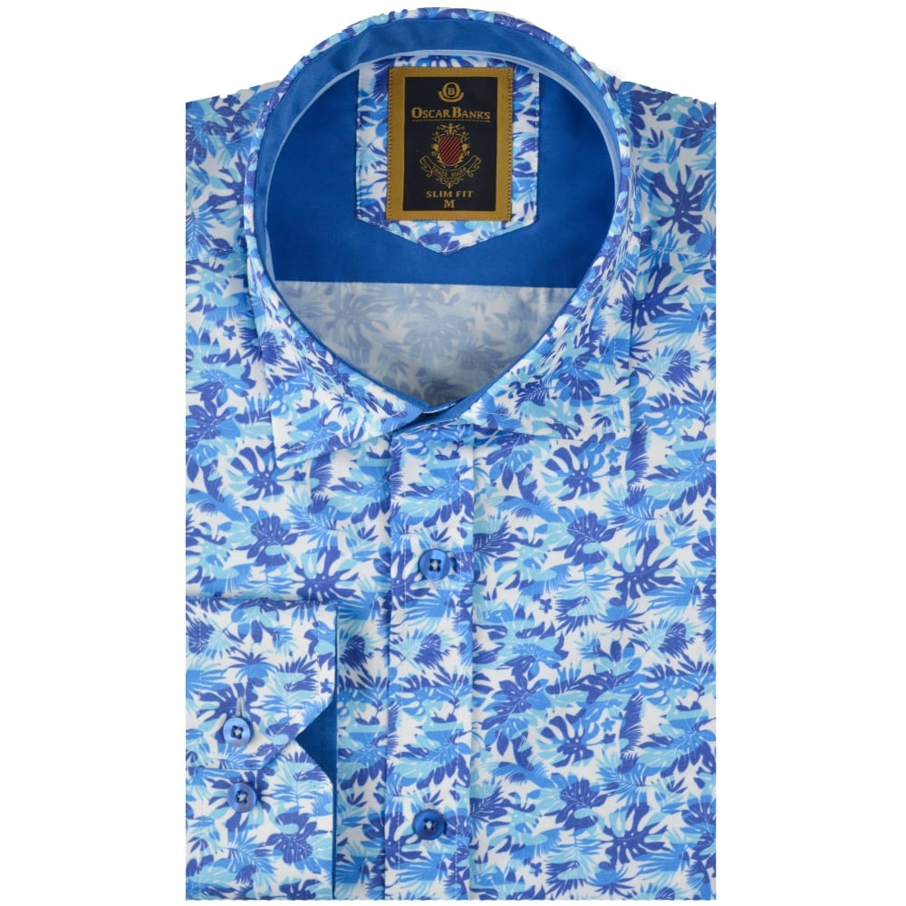 Oscar Banks Mens Designer Shirtsfloral Shirtsthe Shirt Store