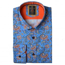 Blue Paisley Mens Shirt