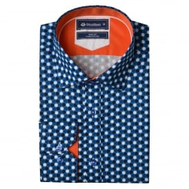 Blue Polka Dot Mens Shirt