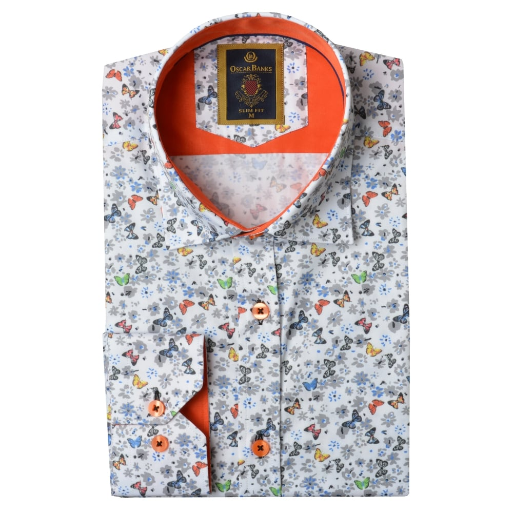 Touch Rugby Paisley: Buy Butterfly Print Mens Shirt SL6100
