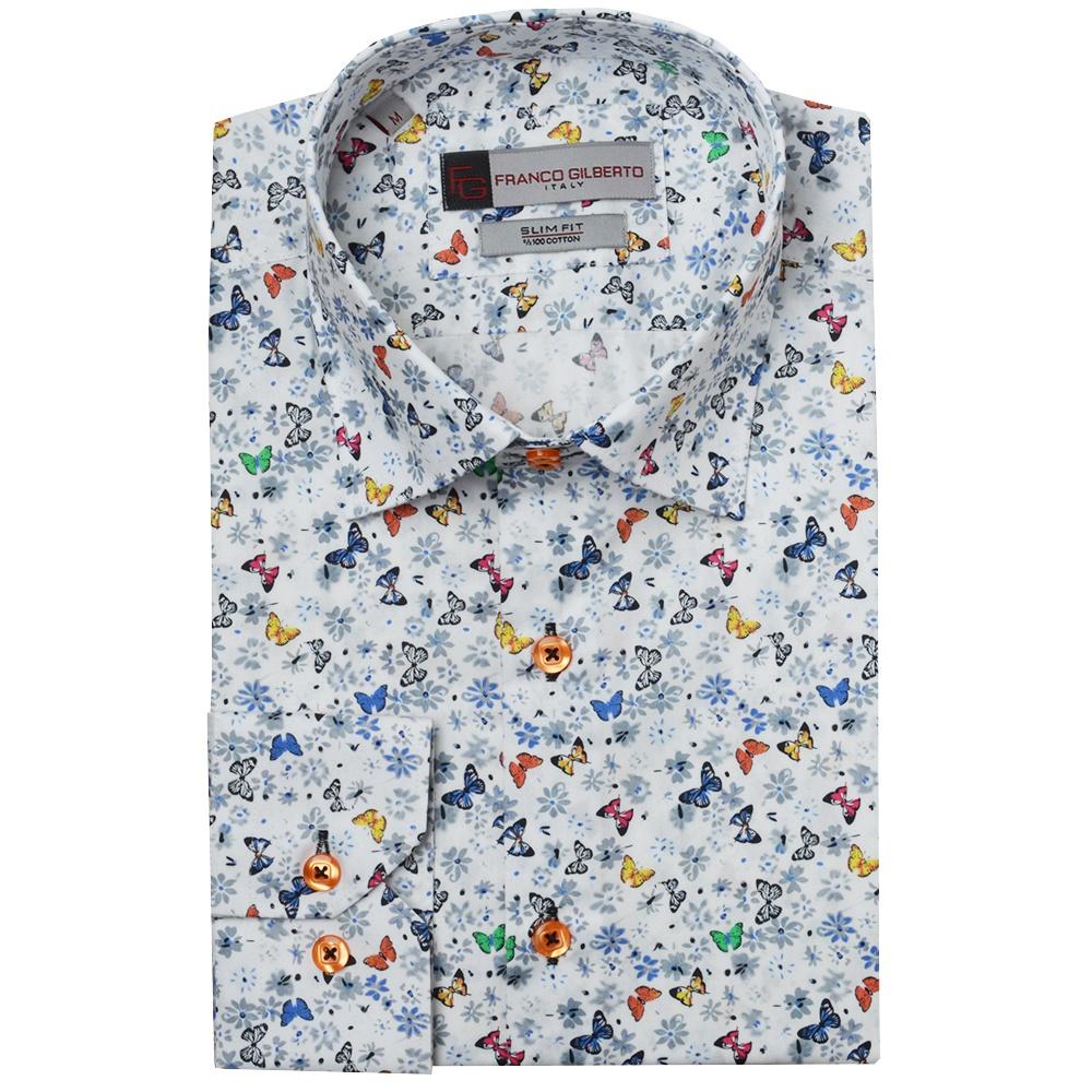 72ec56c3233 Butterfly Print Mens Shirt by Oscar Banks
