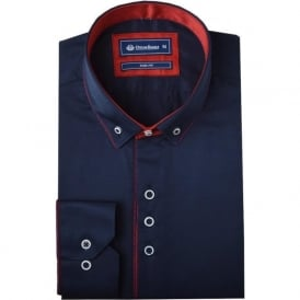 Button Down Collar Mens Shirt