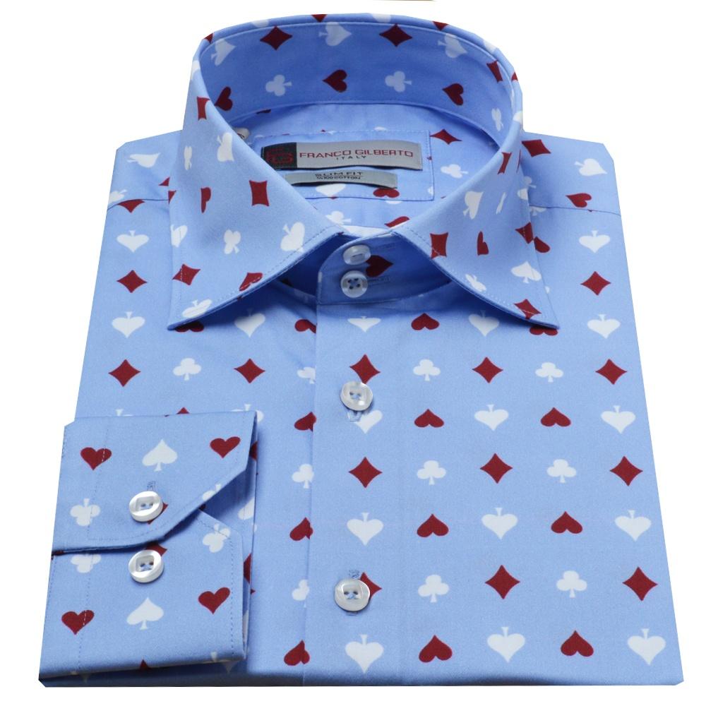 Shirt design card - Card Suit Print Mens Shirt