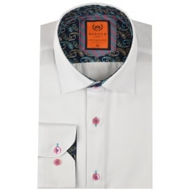 Contrast Trim Mens Shirt