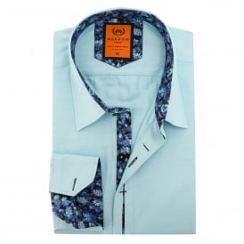Cotton Floral Trim Mens Shirt