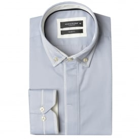 Double Collar Trim Mens Shirt