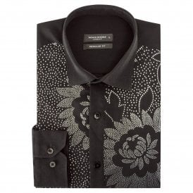 Floral Metallic Beads Men's Shirt