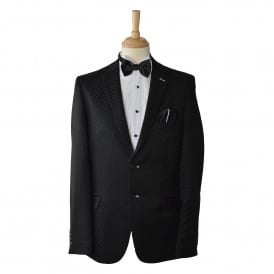 Mens Delux Black Check Mens Blazer