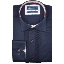 Mens Pleated Front Evening Dress Shirt