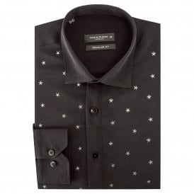 Metallic Stars Print Men's Shirt