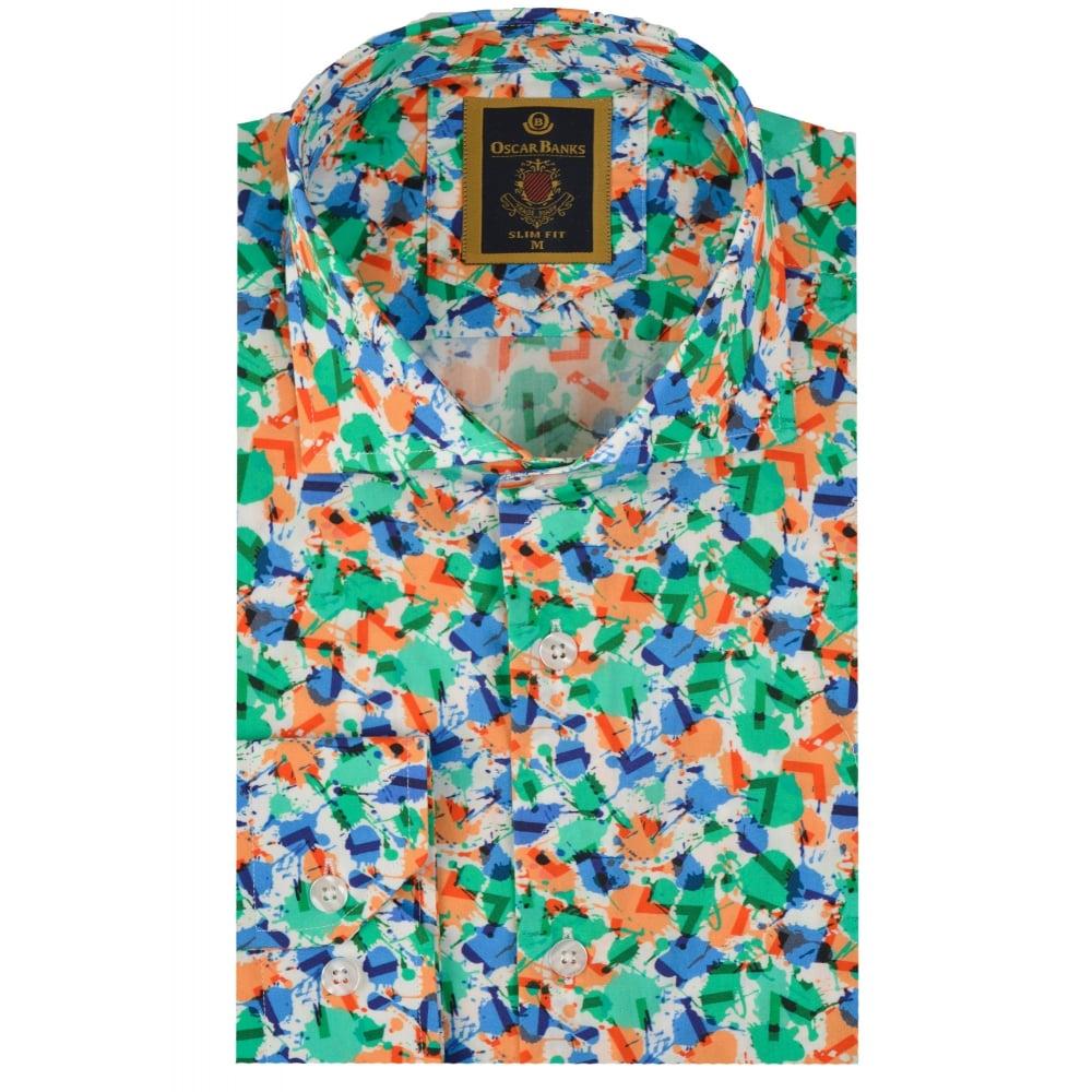 a3d9c93236c Multicoloured Blot Print Mens Shirt