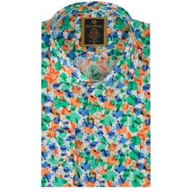 Multicoloured Blot Print Mens Shirt