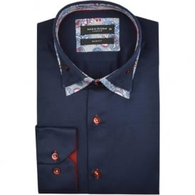 Paisley Patterned Double Collar Mens Shirt