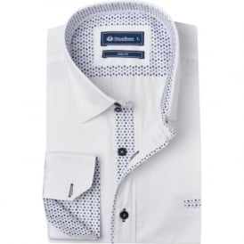 Polka Dot Trim Classic Mens Shirt