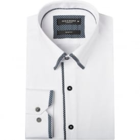 Polka Dot Trim Mens Shirt