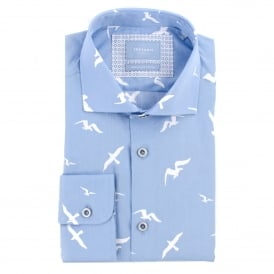 Bird Print Mens Shirt