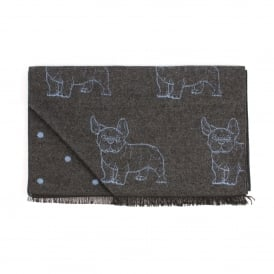 Double Faced Bull Dog/Dot Mens Scarf