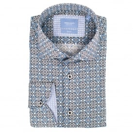 Medaillon Print Mens Shirts
