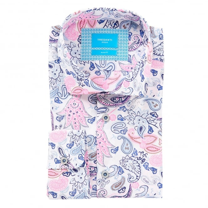 Tresanti Multicoloured Paisley Design Mens Shirt