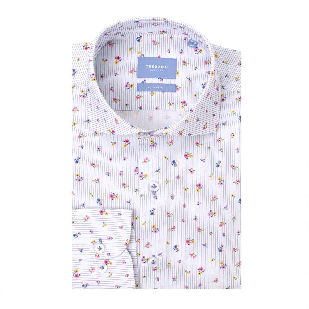 Tresanti Colourful Fantasy Cotton Long Sleeve Mens Shirt Multi 39
