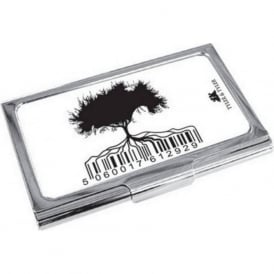 Barcode Tree Enamel Business Card Holder