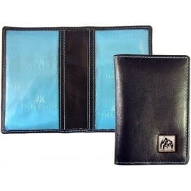 Barry Bull Dog Leather Travel Card Holder