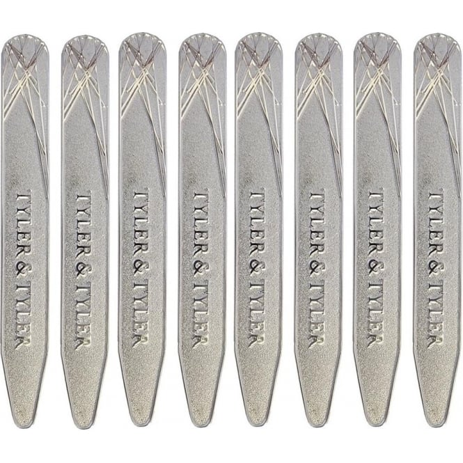 TYLER & TYLER Diffusion Silver Collar Stiffeners Gift Pack