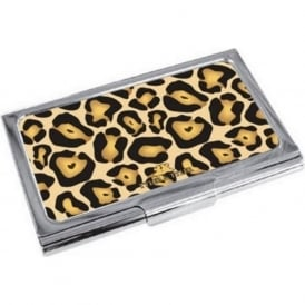 Jaguar Print Enamel Business Card Holder